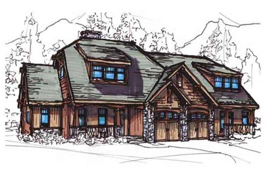 Front View of this 2-Bedroom,1398 Sq Ft Plan -1398