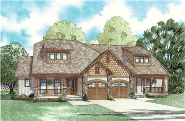 2-Bedroom, 1398 Sq Ft Multi-Unit Home Plan - 153-1759 - Main Exterior
