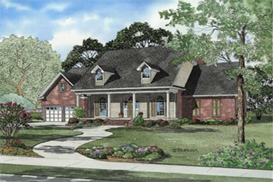 3-Bedroom, 2422 Sq Ft Cape Cod Home Plan - 153-1760 - Main Exterior