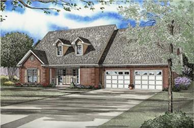 3-Bedroom, 2471 Sq Ft Cape Cod Home Plan - 153-1761 - Main Exterior