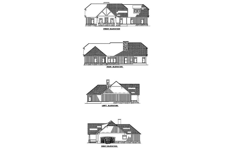 Home Plan Rear Elevation of this 3-Bedroom,1982 Sq Ft Plan -153-1762