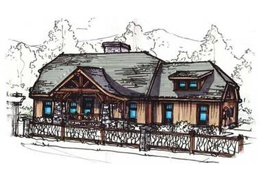 3-Bedroom, 1982 Sq Ft Country Home Plan - 153-1762 - Main Exterior