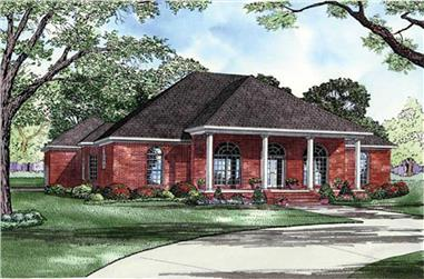 4-Bedroom, 2553 Sq Ft Colonial House Plan - 153-1766 - Front Exterior
