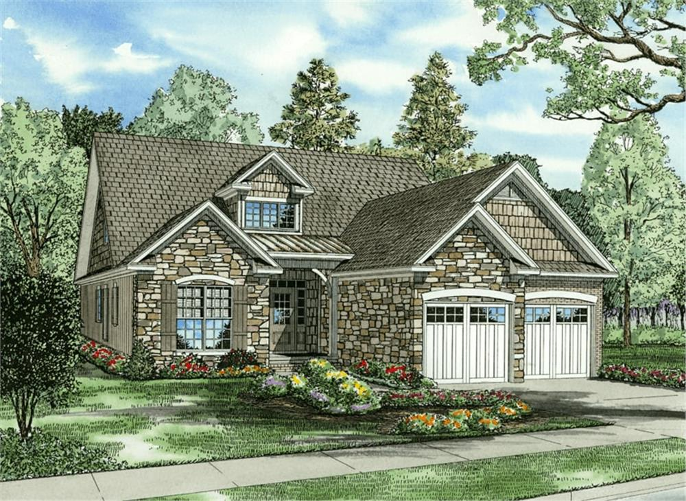 Front elevation of Cape Cod home (ThePlanCollection: House Plan #153-1768)