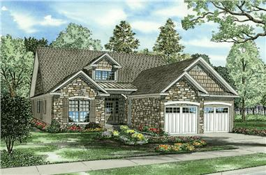 4-Bedroom, 1875 Sq Ft Cape Cod Home Plan - 153-1768 - Main Exterior