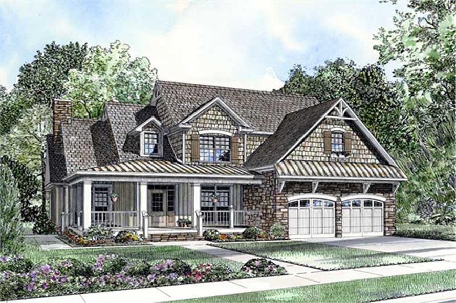 4-Bedroom, 2918 Sq Ft Southern House Plan - 153-1773 - Front Exterior
