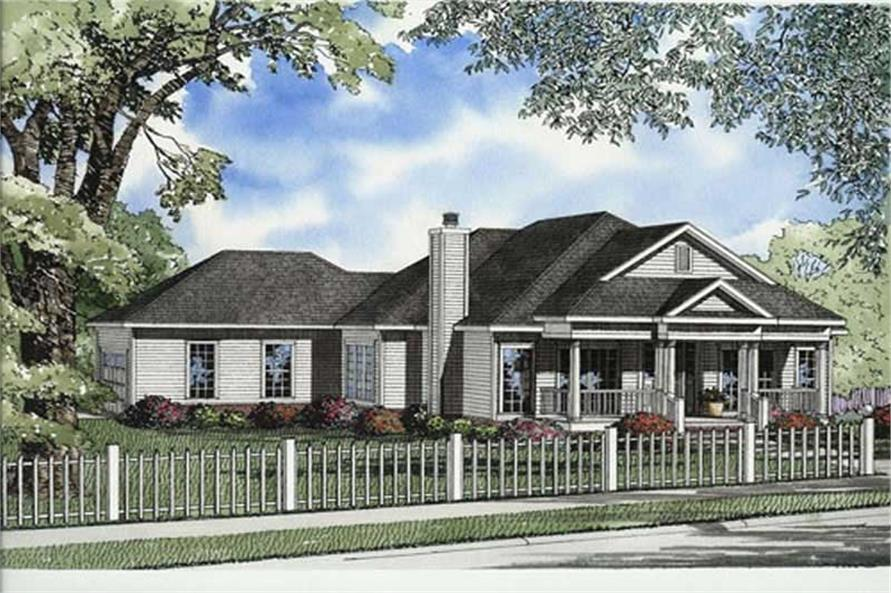3-Bedroom, 1914 Sq Ft Ranch Home Plan - 153-1777 - Main Exterior