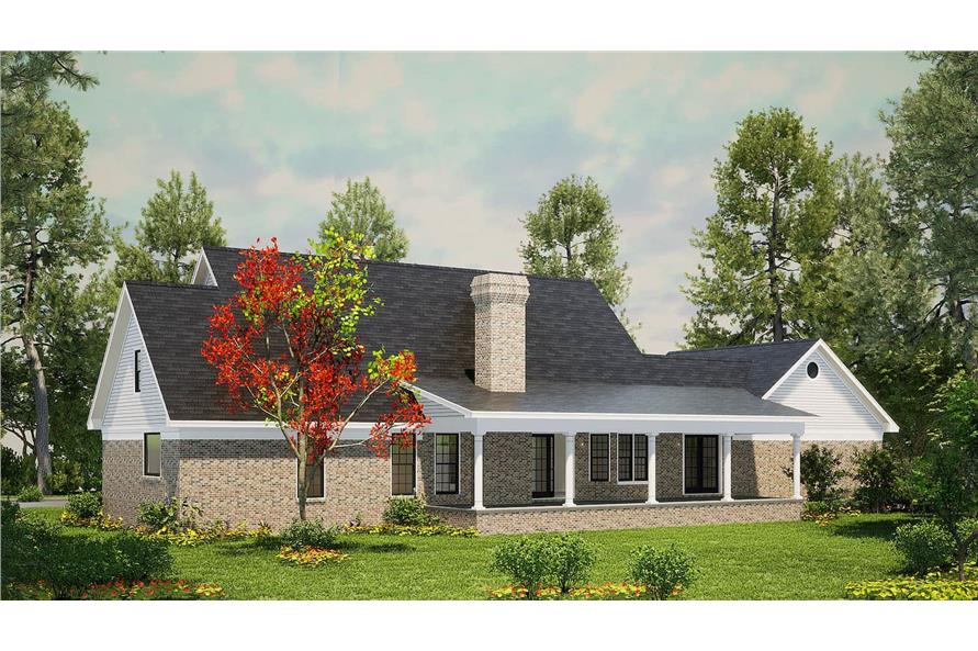 Rear View of this 3-Bedroom,1853 Sq Ft Plan -153-1779