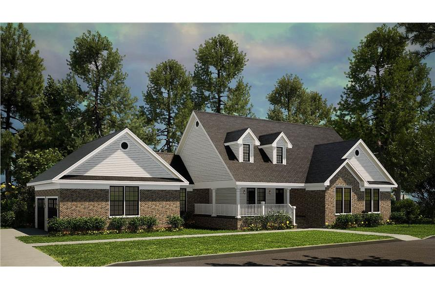 Left View of this 3-Bedroom,1853 Sq Ft Plan -153-1779