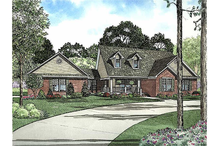 Front View of this 3-Bedroom,1853 Sq Ft Plan -153-1779