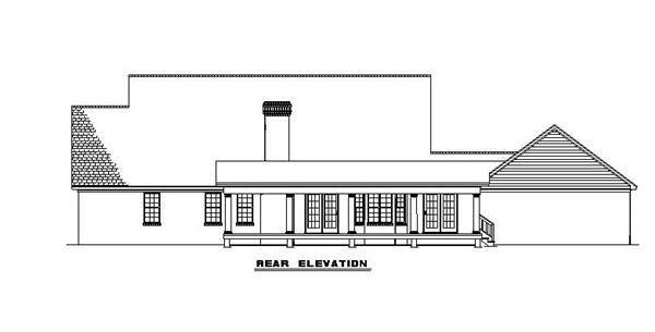 153-1779 house plan rear elevation