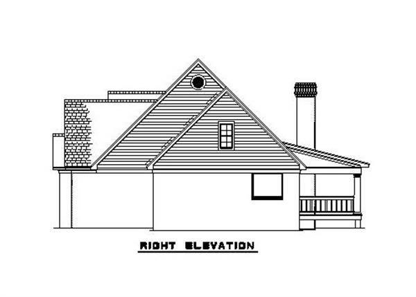 153-1779 house plan right elevation