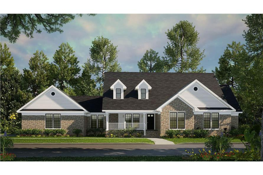 3-Bedroom, 1853 Sq Ft Country Home - Plan #153-1779 - Main Exterior