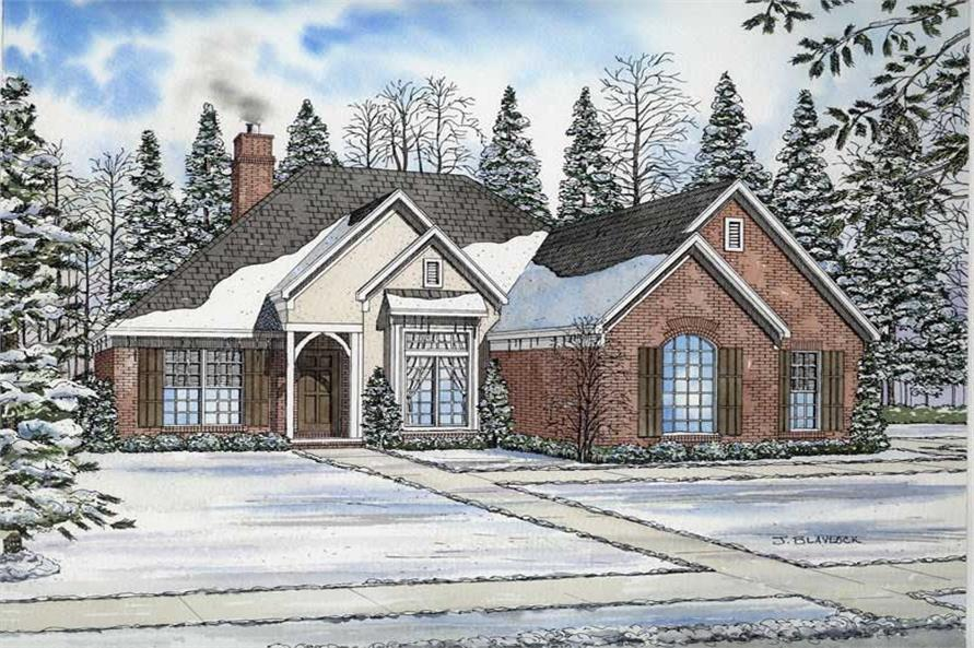 3-Bedroom, 1600 Sq Ft European Home Plan - 153-1780 - Main Exterior