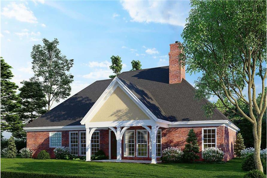 Rear View of this 3-Bedroom,1600 Sq Ft Plan -153-1780