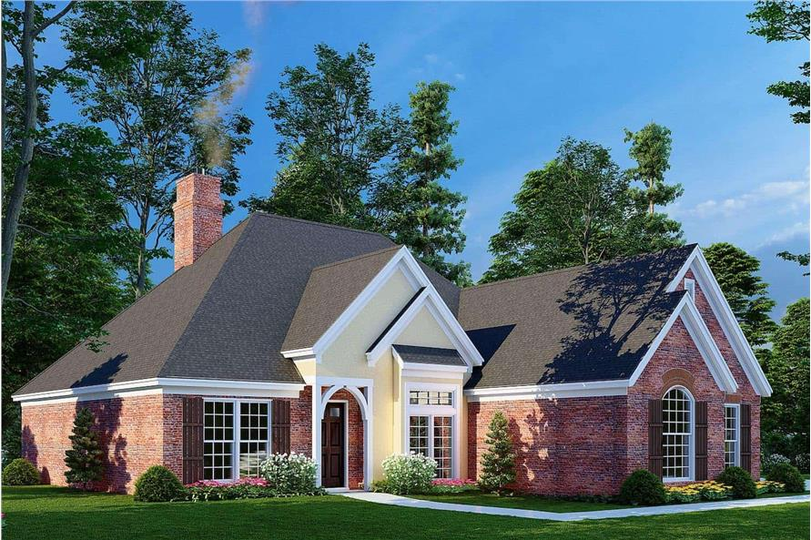 Left View of this 3-Bedroom,1600 Sq Ft Plan -153-1780