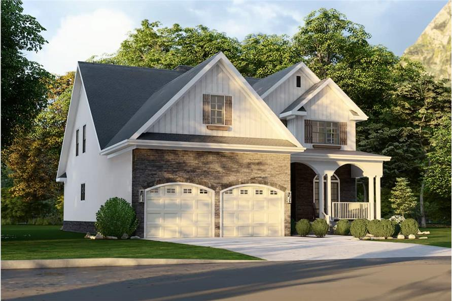 Left View of this 4-Bedroom,2470 Sq Ft Plan -153-1781