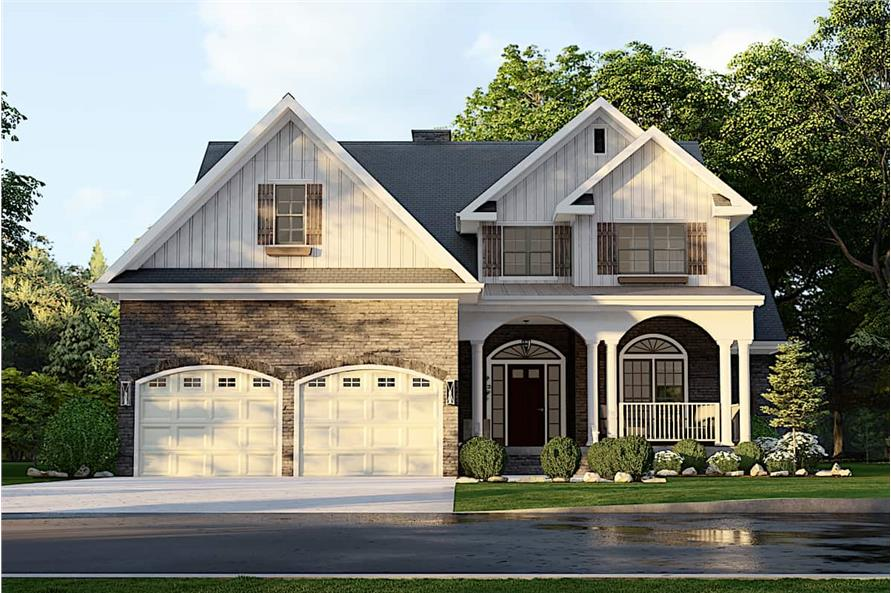 Front View of this 4-Bedroom,2470 Sq Ft Plan -153-1781