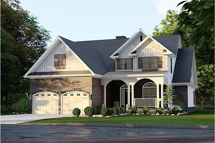 4-Bedroom, 2470 Sq Ft Country Home - Plan #153-1781 - Main Exterior