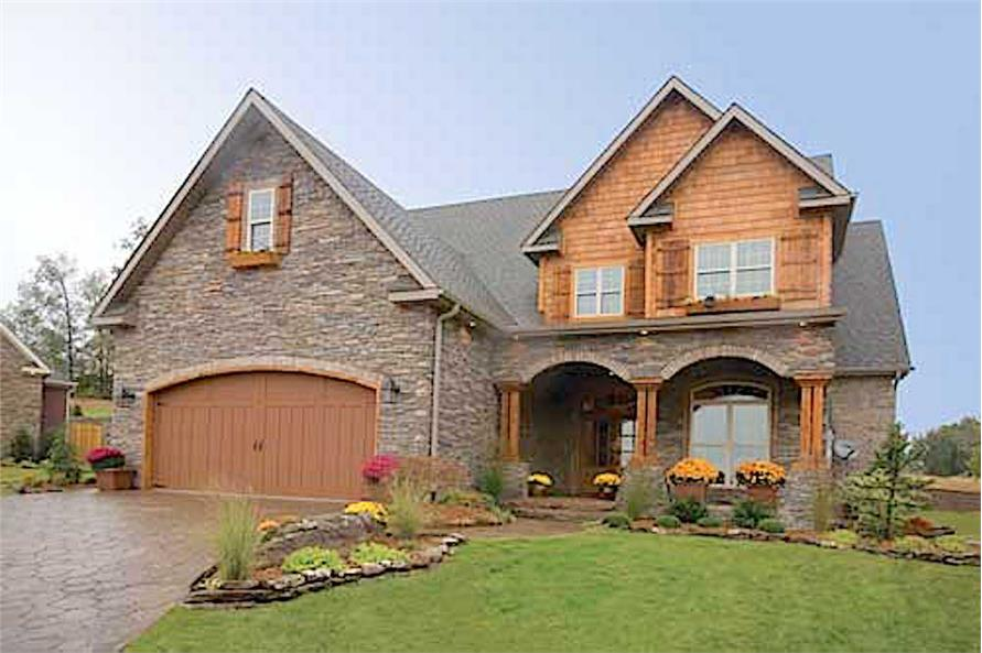 4-Bedroom, 2470 Sq Ft Country Home Plan - 153-1781 - Main Exterior