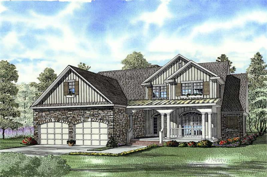 Home Plan Rendering of this 4-Bedroom,2470 Sq Ft Plan -153-1781