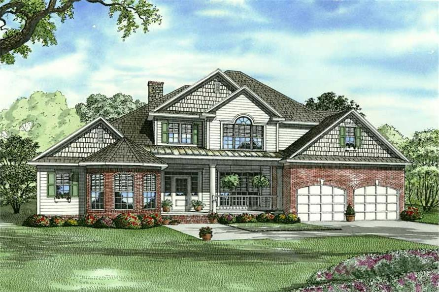 4-Bedroom, 2955 Sq Ft Contemporary Home Plan - 153-1782 - Main Exterior