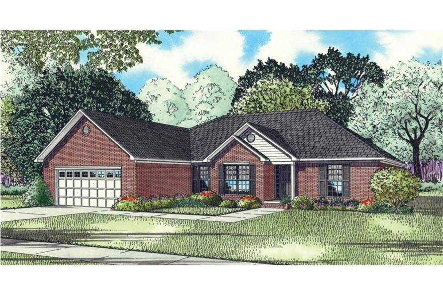 This is an artist's rendering of these Traditional European Houseplans.