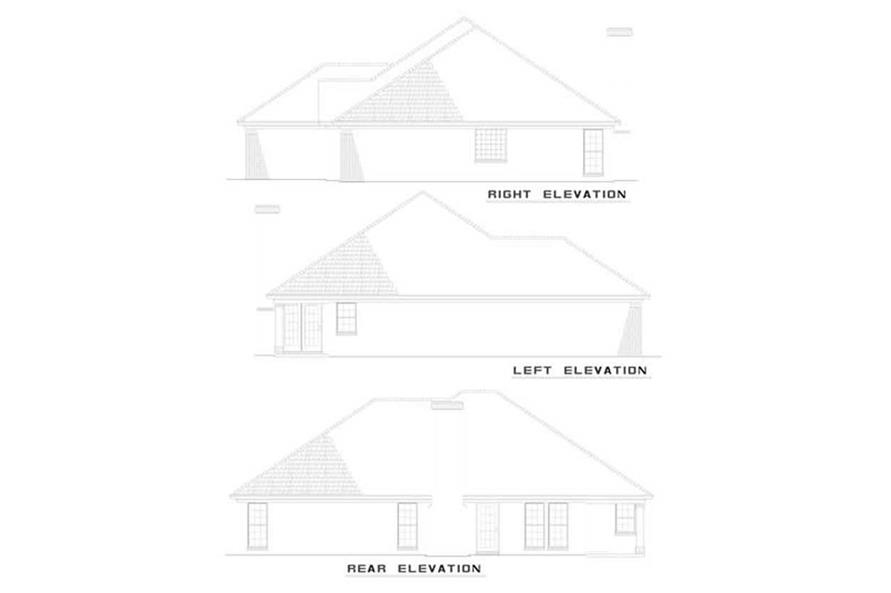 EXTERIOR ELEVATIONS of this 3-Bedroom,1749 Sq Ft Plan -1749