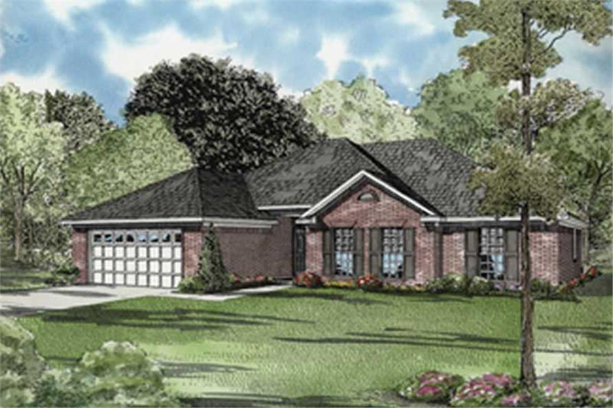 3-Bedroom, 1749 Sq Ft Ranch Home Plan - 153-1784 - Main Exterior