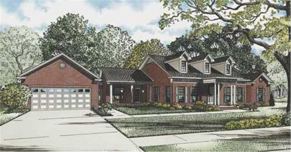 This image is the colored rendering of these cape cod homeplans.