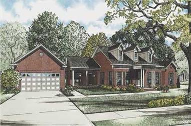3-Bedroom, 3009 Sq Ft Cape Cod House Plan - 153-1785 - Front Exterior