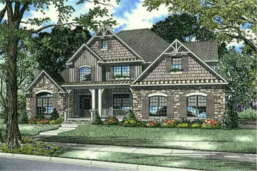 Home Plan Rendering of this 4-Bedroom,2363 Sq Ft Plan -2363