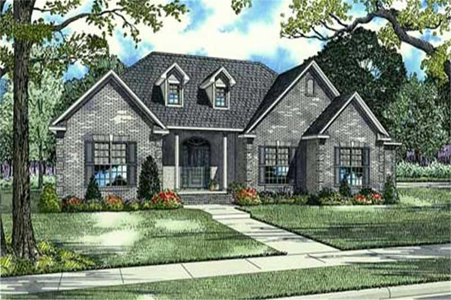 4-Bedroom, 2846 Sq Ft Country House Plan - 153-1787 - Front Exterior