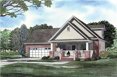 3-Bedroom, 1059 Sq Ft Ranch Home Plan - 153-1788 - Main Exterior