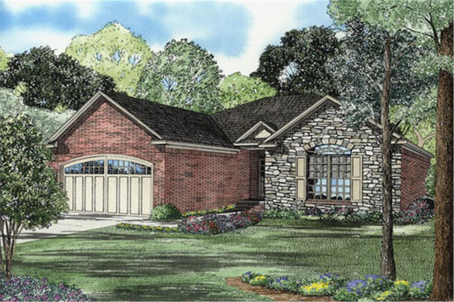2-Bedroom, 1426 Sq Ft European House Plan - 153-1789 - Front Exterior