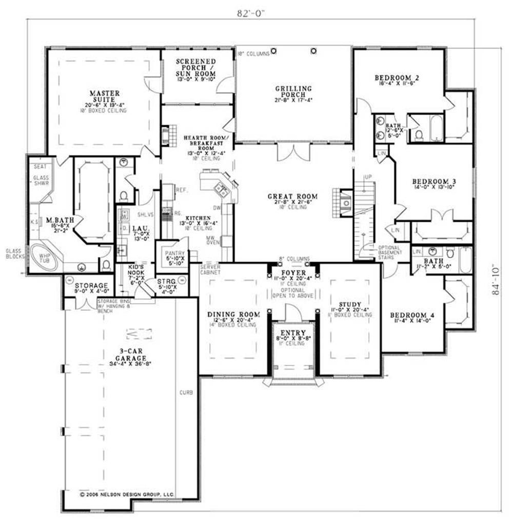 House Plan NDG-1147 Main Floor Plan