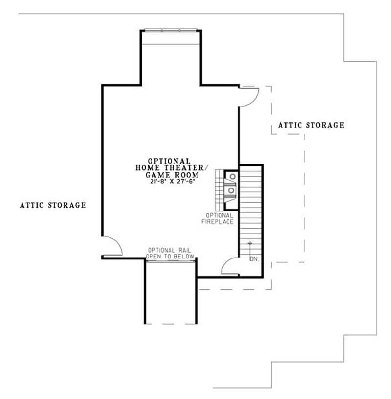 House Plan NDG-1147 Second Floor Plan