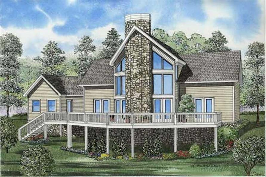 2-Bedroom, 1408 Sq Ft Contemporary House Plan - 153-1791 - Front Exterior