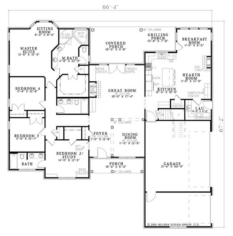 House Plan NDG-1117 Main Floor Plan