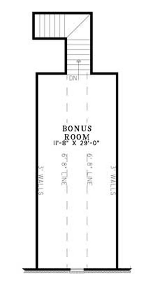 House Plan NDG-1117 Second Floor Plan