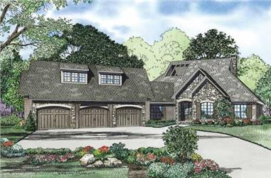4-Bedroom, 2716 Sq Ft Southern Home Plan - 153-1794 - Main Exterior