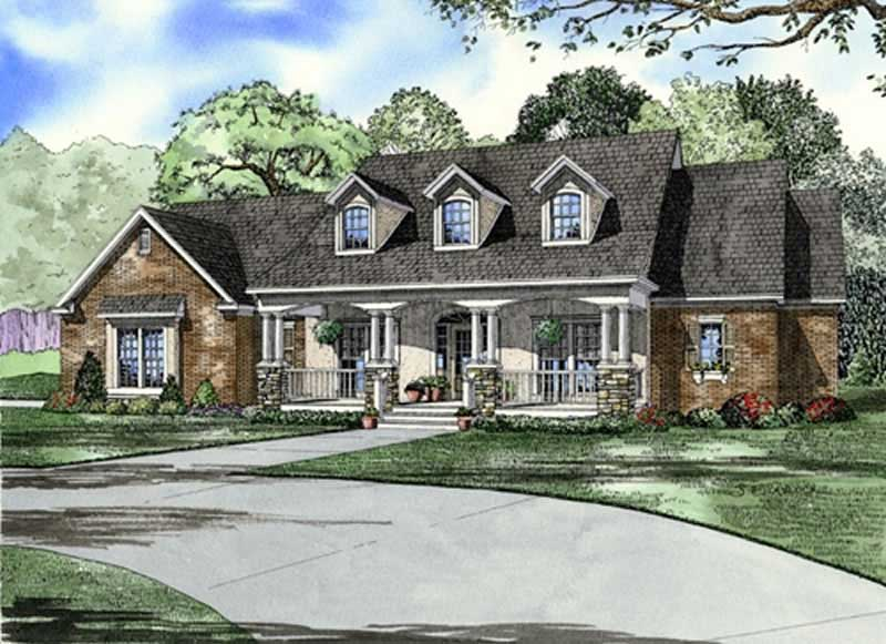 Southern Traditional House Plans Home Design Ndg 646b