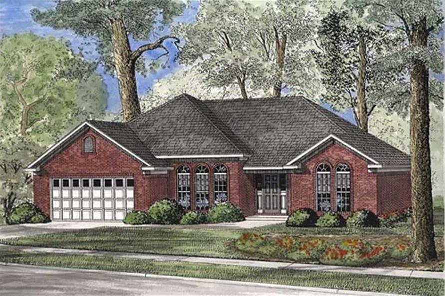 3-Bedroom, 1763 Sq Ft Small House Plans - 153-1801 - Front Exterior