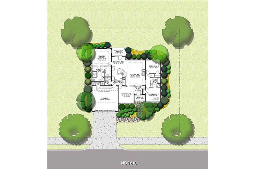 PRESENTATION FLOOR PLAN of this 3-Bedroom,1763 Sq Ft Plan -1763