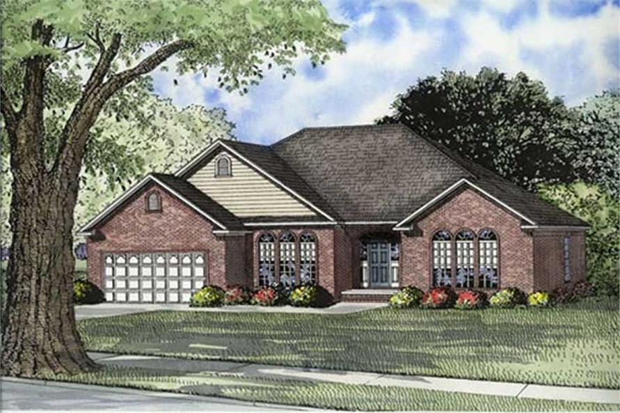 4-Bedroom, 2050 Sq Ft European Home Plan - 153-1804 - Main Exterior