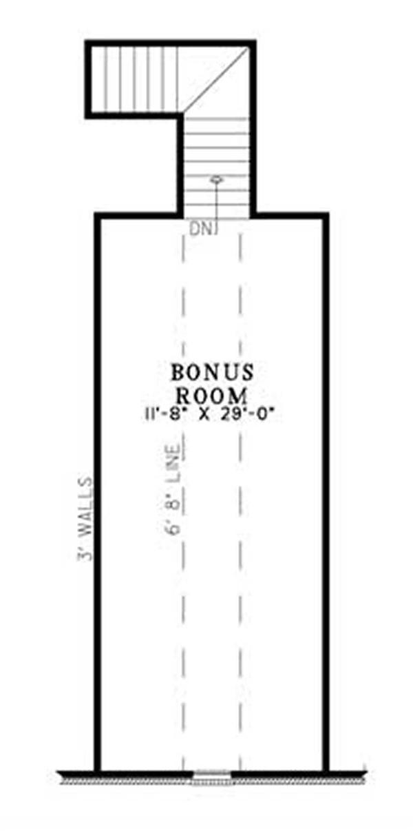 BONUS ROOM FLOOR PLAN