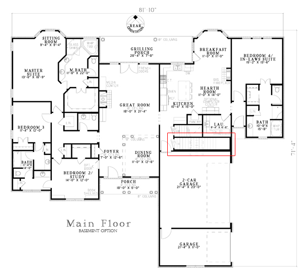 153-1806: Floor Plan Main Level