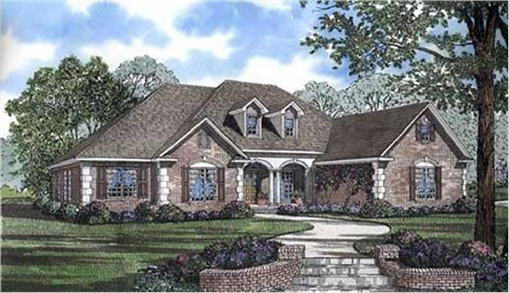 153-1806 house plan front rendering