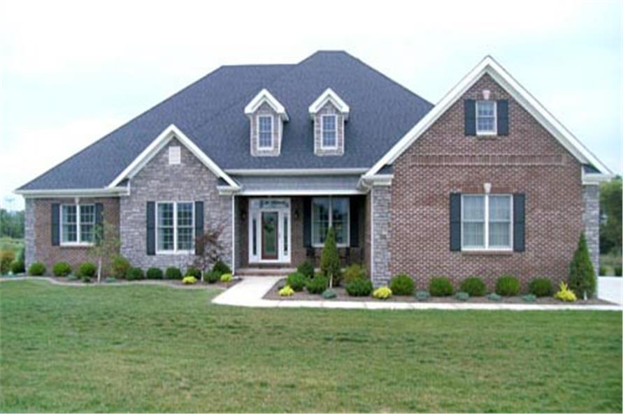 4-Bedroom, 2852 Sq Ft Country Home Plan - 153-1806 - Main Exterior