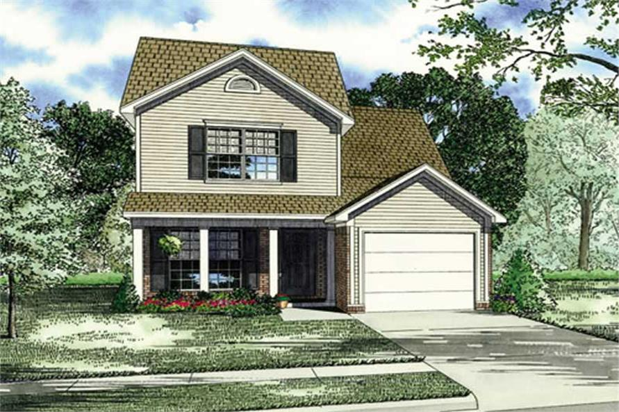 3-Bedroom, 1251 Sq Ft Small House Plans - 153-1807 - Main Exterior